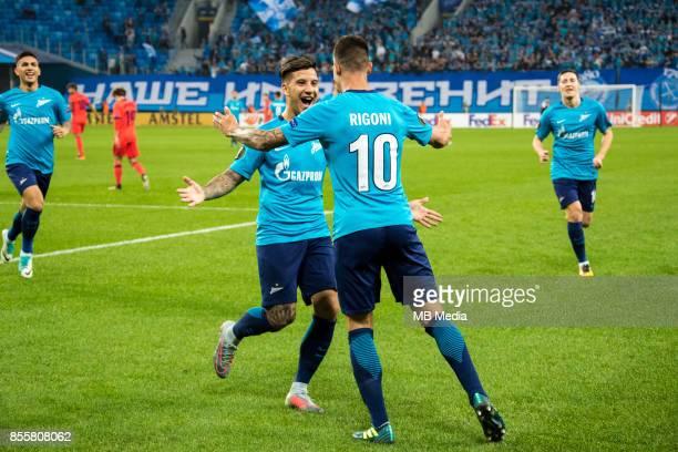 Europa League Group L Round 2 football match at Saint Petersburg Stadium Zenit 3 1 Real Sociedad Zenit St Petersburg's Sebastian Driussi and Emiliano...