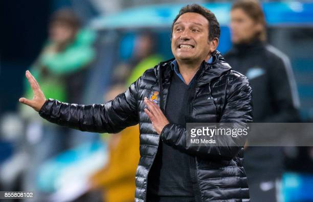 Europa League Group L Round 2 football match at Saint Petersburg Stadium Zenit 3 1 Real Sociedad FC Real Sociedad's head coach Eusebio Sacristan