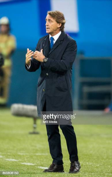 Europa League Group L Round 2 football match at Saint Petersburg Stadium Zenit 3 1 Real Sociedad St Petersburg's head coach Roberto Mancini