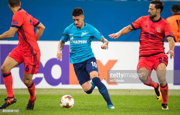 Europa League Group L Round 2 football match at Saint Petersburg Stadium Zenit 3 1 Real Sociedad FC Real Sociedad's Sergio Canales Zenit St...