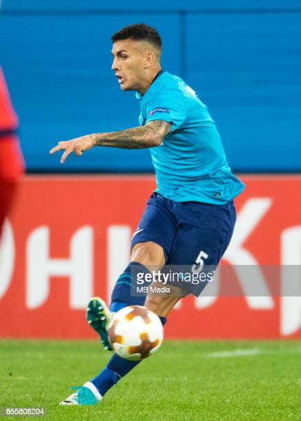 Europa League Group L Round 2 football match at Saint Petersburg Stadium Zenit 3 1 Real Sociedad Zenit St Petersburg's Leandro Paredes