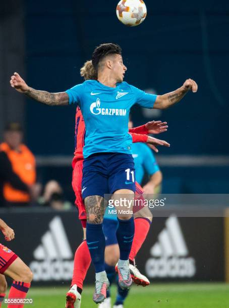 Europa League Group L Round 2 football match at Saint Petersburg Stadium Zenit 3 1 Real Sociedad Zenit St Petersburg's Sebastian Driussi