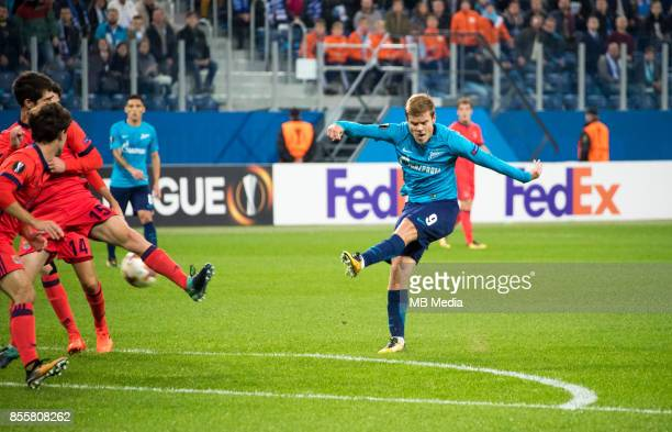 Europa League Group L Round 2 football match at Saint Petersburg Stadium Zenit 3 1 Real Sociedad Zenit St Petersburg's Aleksander Kokorin