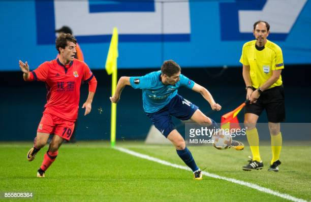 Europa League Group L Round 2 football match at Saint Petersburg Stadium Zenit 3 1 Real Sociedad FC Real Sociedad's Alvaro Odriozola and Zenit St...