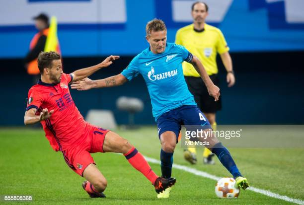 Europa League Group L Round 2 football match at Saint Petersburg Stadium Zenit 3 1 Real Sociedad FC Real Sociedad's Sergio Canales and Zenit St...