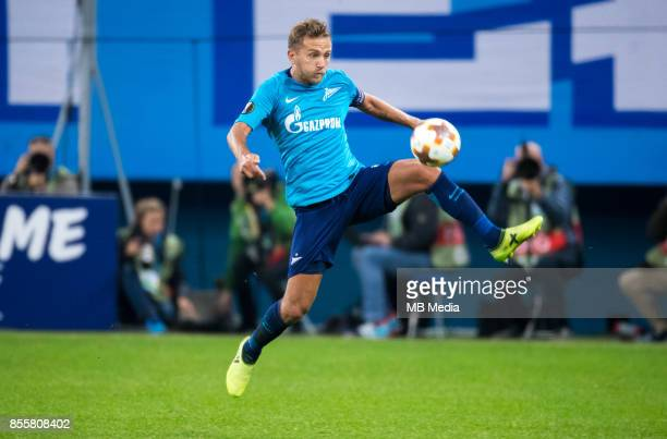 Europa League Group L Round 2 football match at Saint Petersburg Stadium Zenit 3 1 Real Sociedad Zenit St Petersburg's Domenico Criscito