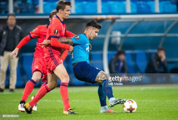 Europa League Group L Round 2 football match at Saint Petersburg Stadium Zenit 3 1 Real Sociedad FC Real Sociedad's Diego Llorente and Zenit St...