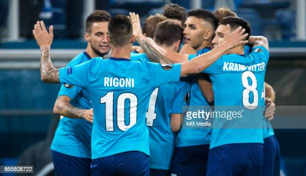 Europa League Group L Round 2 football match at Saint Petersburg Stadium Zenit 3 1 Real Sociedad Zenit St Petersburg's Emanuel Mammana Emiliano...