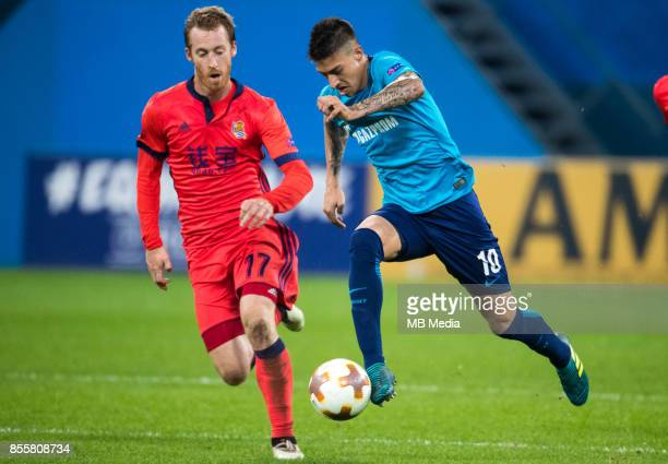 Europa League Group L Round 2 football match at Saint Petersburg Stadium Zenit 3 1 Real Sociedad FC Real Sociedad's David Zurutuza and Zenit St...
