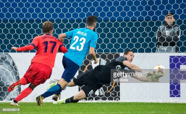 Europa League Group L Round 2 football match at Saint Petersburg Stadium Zenit 3 1 Real Sociedad FC Real Sociedad's David Zurutuza Zenit St...