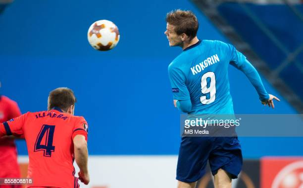Europa League Group L Round 2 football match at Saint Petersburg Stadium Zenit 3 1 Real Sociedad FC Real Sociedad's Asier Illarramendi and Zenit St...