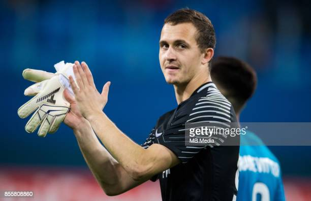 Europa League Group L Round 2 football match at Saint Petersburg Stadium Zenit 3 1 Real Sociedad Zenit St Petersburg's Andrey Lunev celebrate scoring