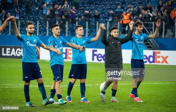 Europa League Group L Round 2 football match at Saint Petersburg Stadium Zenit 3 1 Real Sociedad Zenit St Petersburg's Emanuel Mammana Leandro...