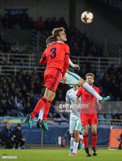 Europa League Group L Round 6 football match Real Sociedad Zenit 1 3 Real Sociedad's Diego Diego Javier Llorente Rios against Zenit St Petersburg's...