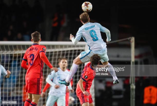Europa League Group L Round 6 football match Real Sociedad Zenit 1 3 Real Sociedad's Diego Javier Llorente Rios and Zenit St Petersburg's Aleksander...