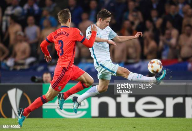 Europa League Group L Round 6 football match Real Sociedad Zenit 1 3 Real Sociedad's Diego Javier Llorente Rios and Zenit St Petersburg's Daler...