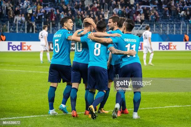 Zenit St Petersburg 3 'u2013 1 Rosenborg BK Zenit St Petersburg's Leandro Paredes Emiliano Rigoni Matias Kranevitter Emanuel Mammana and Sebastian...