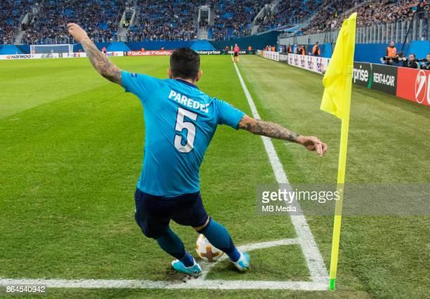 Zenit St Petersburg 3 'u2013 1 Rosenborg BK Zenit St Petersburg's Leandro Paredes