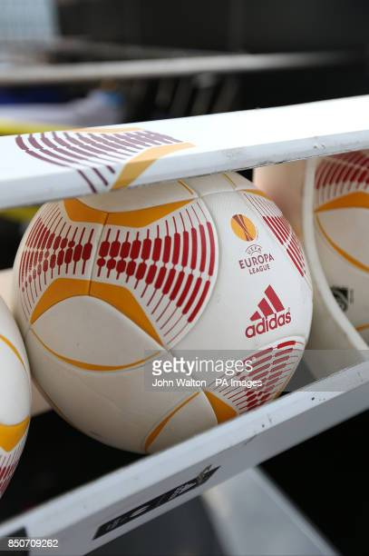 Europa League Matchball ahead of the game at the Amsterdam Arena