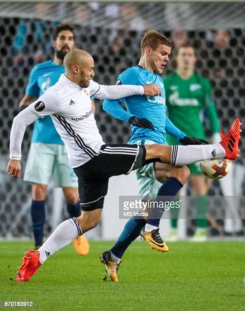 Rosenborg BK 11 Zenit St Petersburg Rosenborg's Tore Reginiussen and Zenit St Petersburg's Aleksandr Kokorin