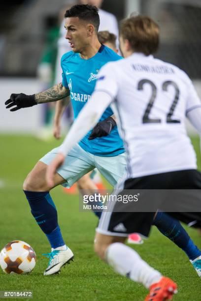 Rosenborg BK 11 Zenit St Petersburg Zenit St Petersburg's Leandro Paredes