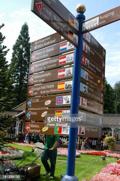 Europa Park Rust Deutschland ProdNr 1141/2006 Schilder Wegweiser Freizeitpark Vergnügungspark Reise