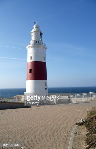 Europa Point Lighthouse Close : Foto stock