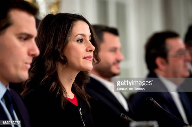 Europa Press Breakfast With Albert Rivera And Ines Arrimadas on December 4 2017 in Madrid Spain