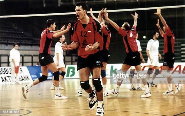 SCC Berlin Stade Poitiers Jubel der Berliner vorne Ulf Quell 1997