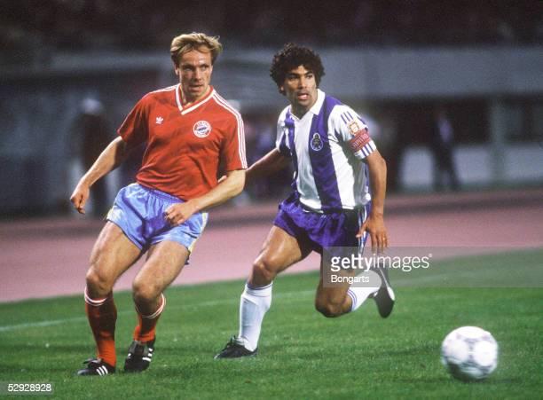 Europapokal der Landesmeister 86/87 Finale Wien FC PORTO FC BAYERN MUENCHEN 21 Michael RUMMENIGGE/Bayern JOAO PINTO/Porto
