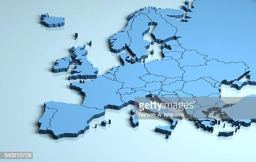 Europe 3D : Stock Photo