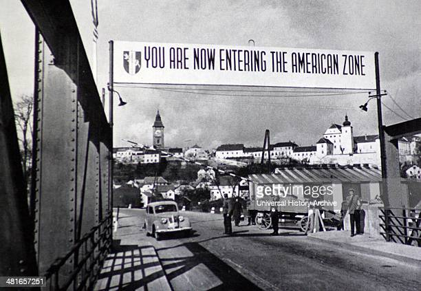 Europe after the end of World War II was divided by an Iron Curtain The separation of the American and Russian zones in Austria 194649