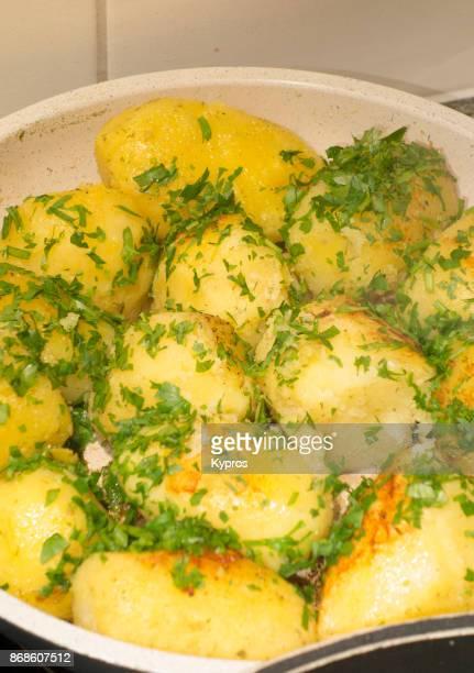 Europe, Austria, Salzburg Area, 2017: View Of Austrian Food - Petersilienkartoffel (Potato With Parsley)