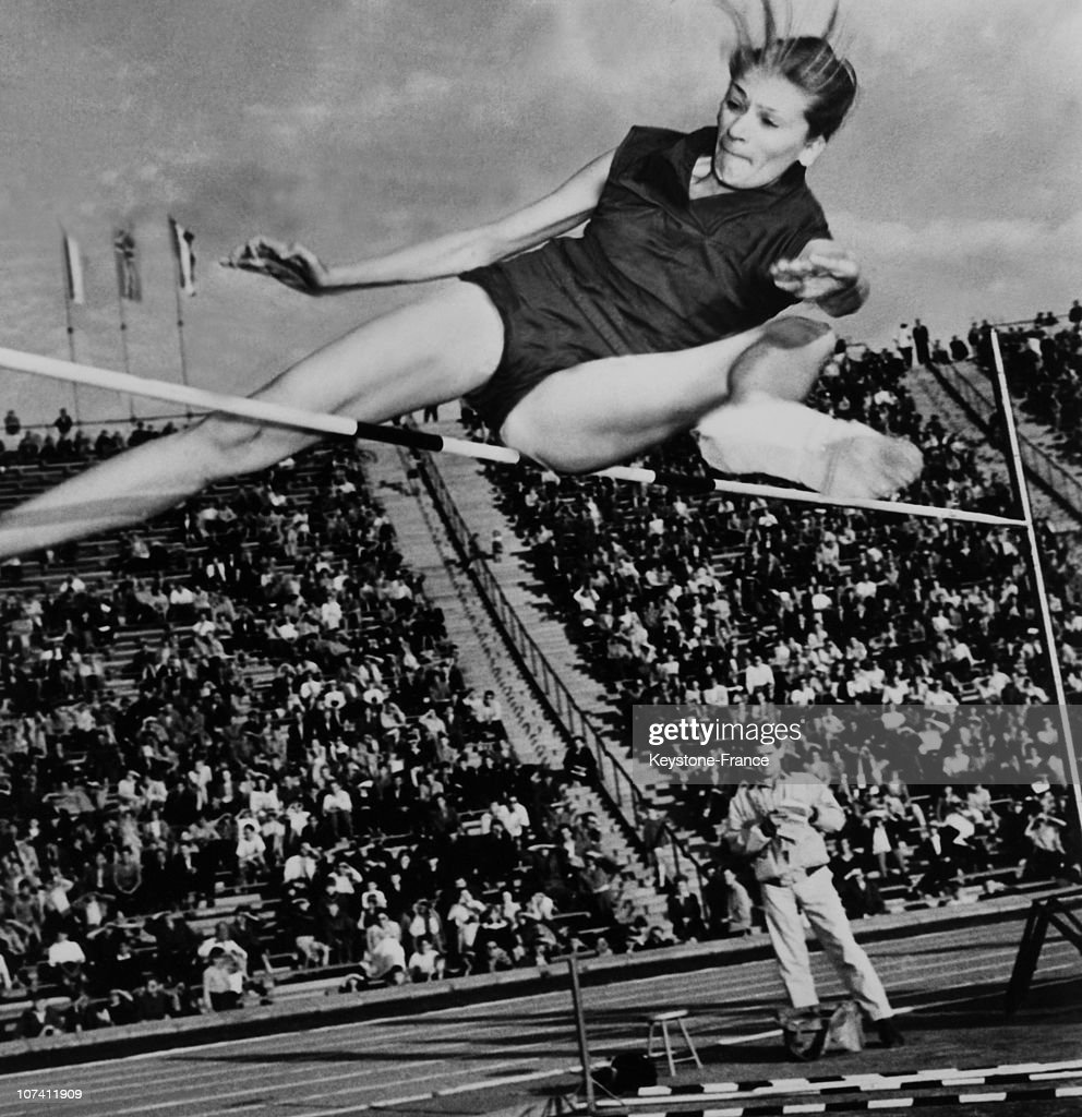 Europe Championship. New Record Of Romanian Athlete Iolanda Balas On June 1958.