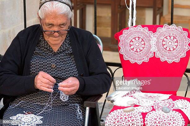 Europe Cyprus Omodos South Of The Trodos Mountains Traditional Embroidered Work