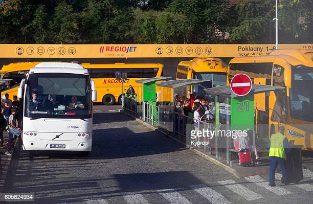 Europe, Czech Republic, Prague, View Of Bus