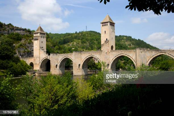 L'Europa, Francia, Midi Pirenei, parcheggio, Cahors, Ponte Valentrè