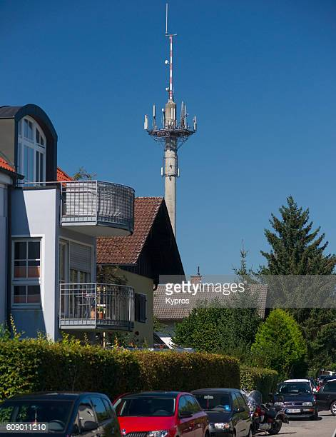 Europe, germany, Bavaria, Bad Aibling, View Of Europe, Germany, Bavaria, View Of Communications Tower With Antennas And Aerials