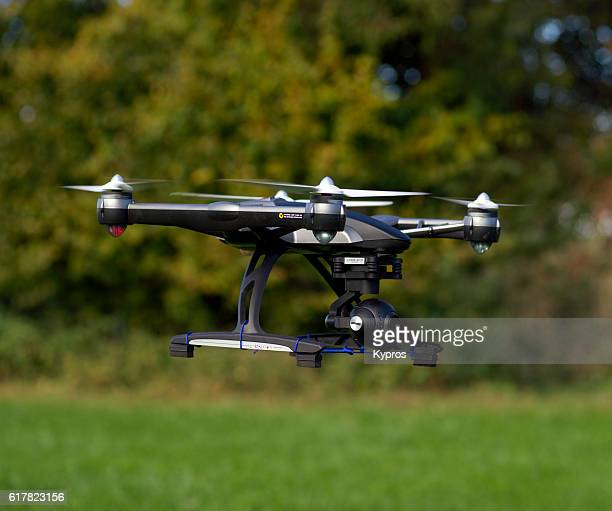 Europe, Germany, Bavaria, View Of  Drone (Or Drohne) Mid-Air Flying