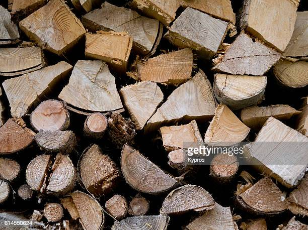 Europe, Germany, Bavaria, View Of Stacked Firewood