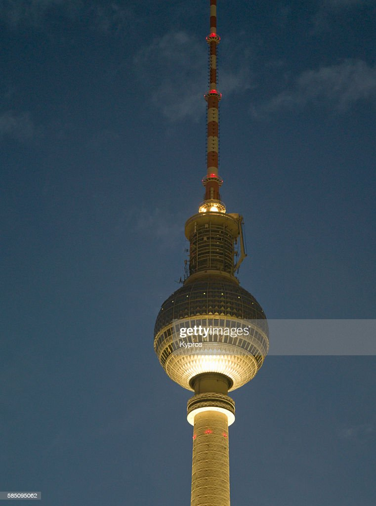 Europe, Germany, Berlin Area, View Of Berlin TV Tower - Tallest Building In Germany