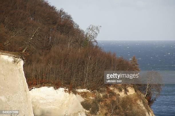 Europe Germany MecklenburgWestern Pomerania island of Ruegen national park Jasmund chalk cliff