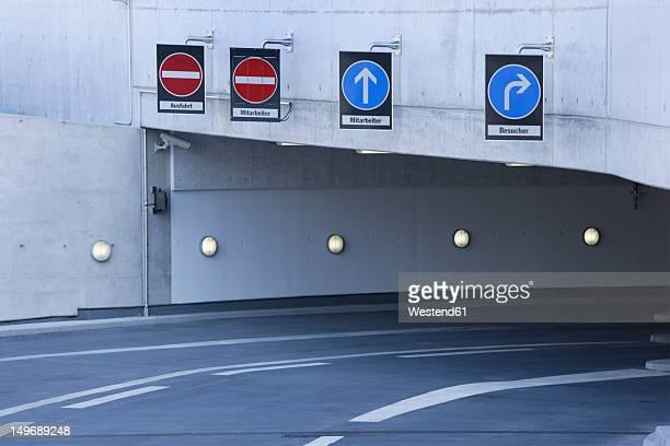 Europe, Germany, Munich, Empty entrance basement garage of ADAC center
