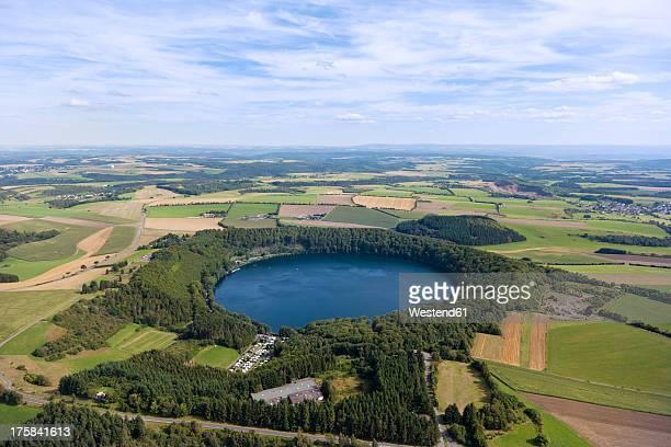 Europe, Germany, Rhineland Palatinate, View of Pulvermaar