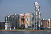 Europe, Great Britain, England, London, Canary Wharf and Docklands area, New Providence Wharf, Ontario Tower, riverside apartment building