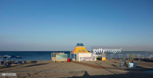 Europe, Greece, Rhodes Island, Faliraki Beach, View Of General View Or Beach Scene