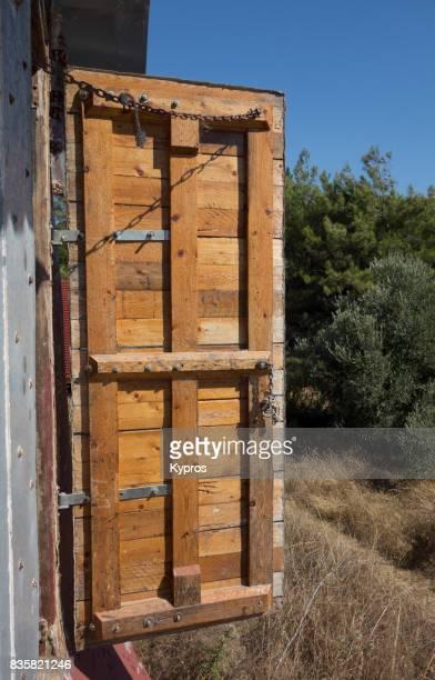 Europe, Greece, Rhodes Island, View Of Home-Made Wooden Door