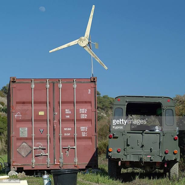Europe, Greece, View Of Home-Made Wind Turbine Generator