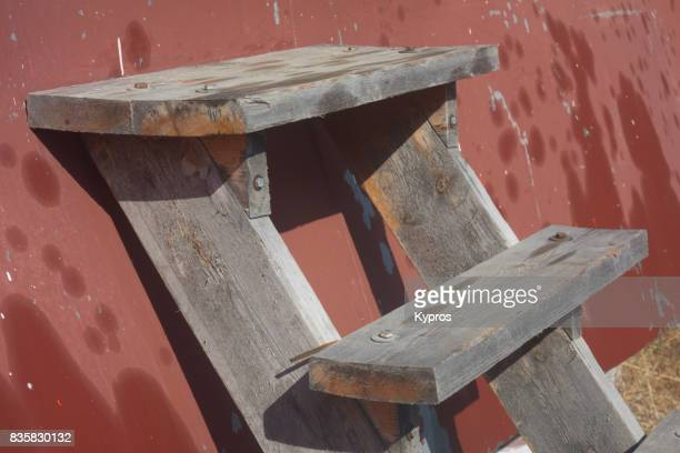 Europe, Greece, View Of Step Ladder