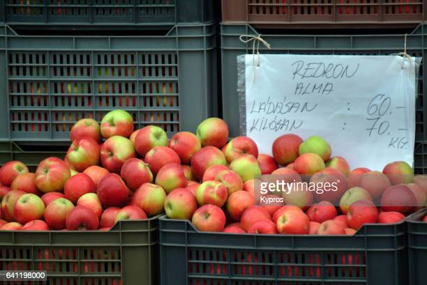 Europe, Hungary, View Of Apples For Sale